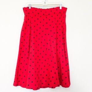 Vintage Christian Dior Polka Dot Skirt